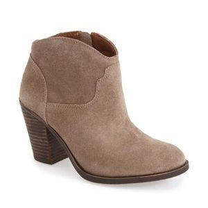 Lucky Brand Eller Ankle Boot in Brindle Suede